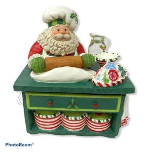 2005 Fitz and Floyd Santa's Kitchen Music Box